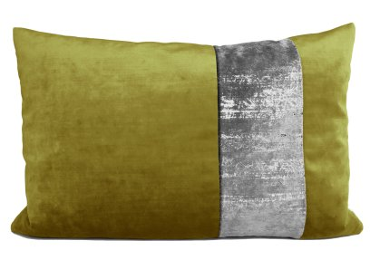 Samtkissen grün silber 40x60