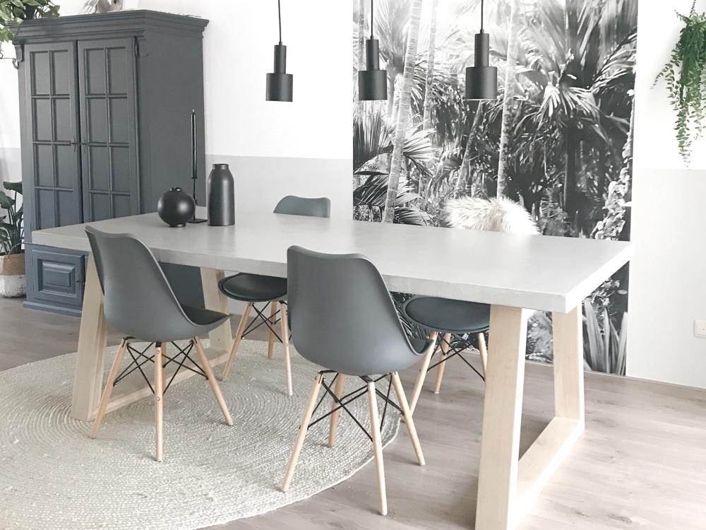Beton cire tafelblad grijs 20% - Beton cire Nederland