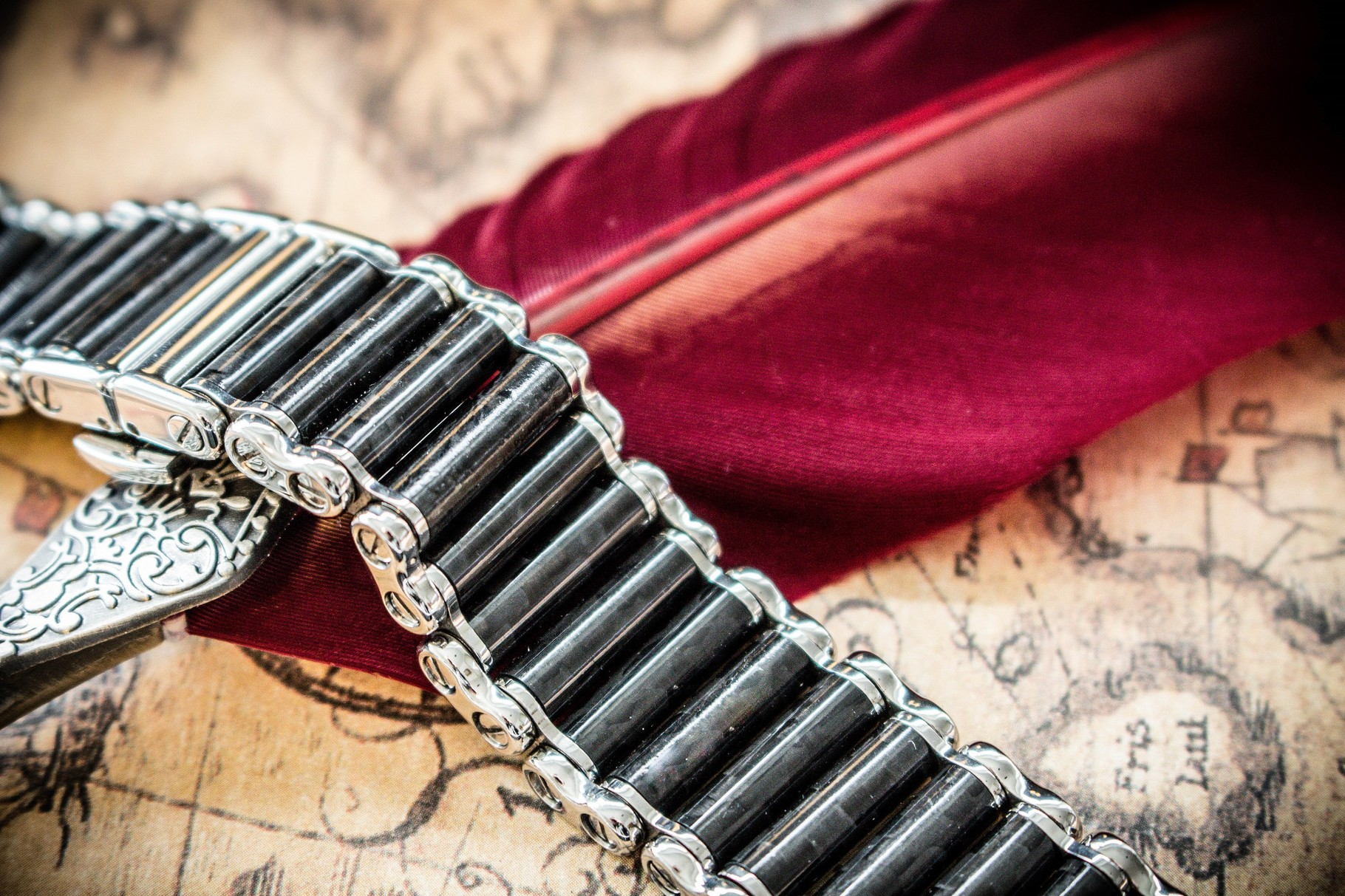 Stainless Steel and Carbon watch bracelet
