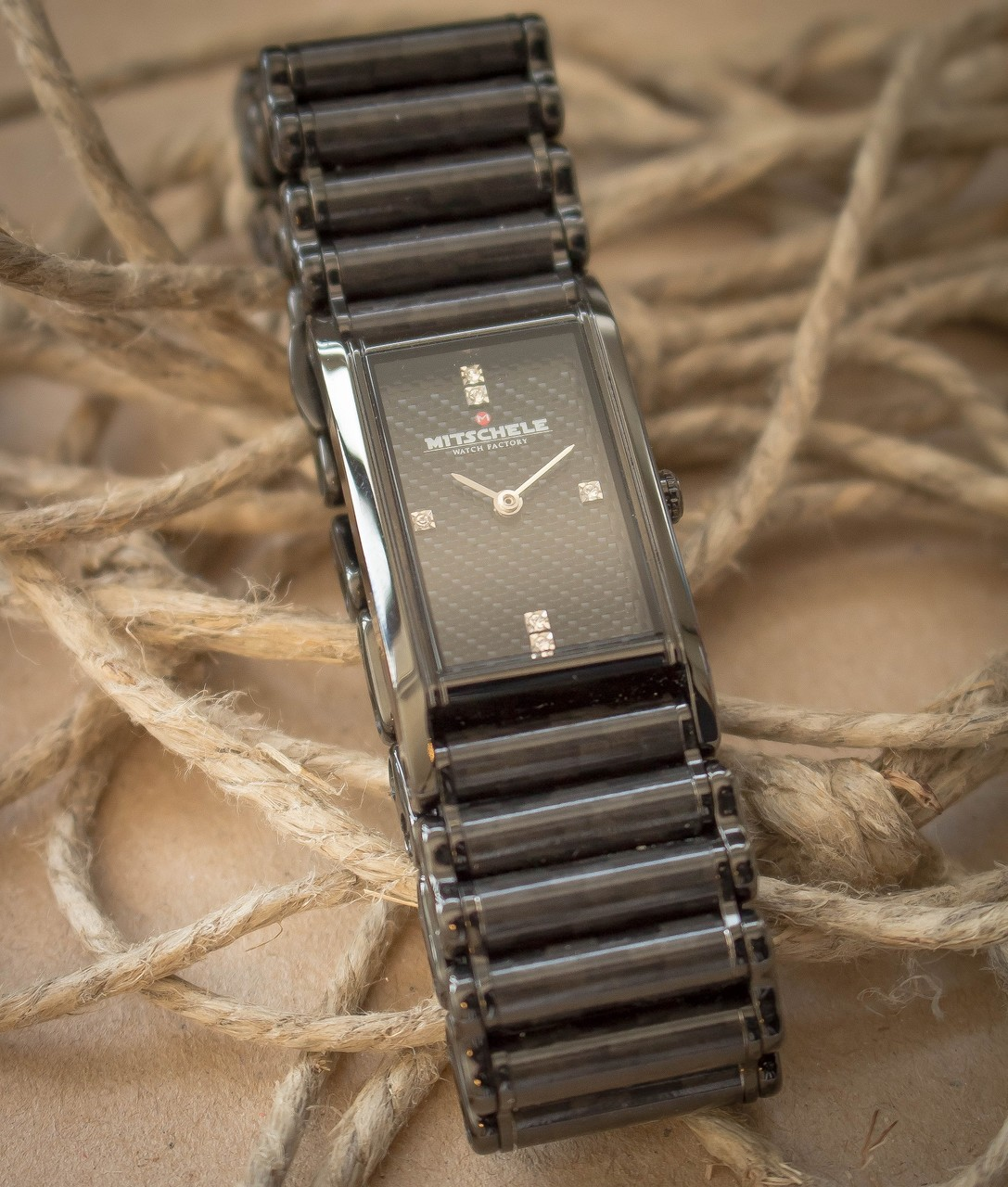 Watch bracelet Stainless Steel with black coating