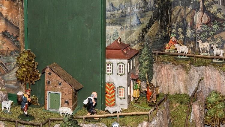 Herbergesuche, Kirchenkrippe Bad Goisern