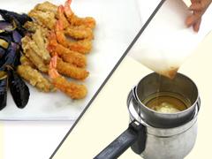 天ぷらの油切りや、油こしに。適度な吸油性で、揚げ物がカラっと仕上がります。