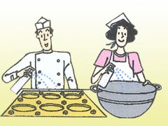スポンジケーキなど焼き菓子の離型に。製品の風味や外観を損なうことがありません。学校給食などの大量調理用ボイル釜や炊飯器の内側くっつき防止に。