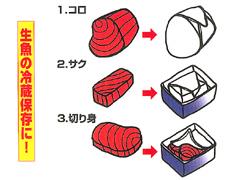 ●生魚の冷蔵保存に!コロ、サク、切り身・・・ ●生肉の冷蔵熟成に!ブロック、ポーションカット、スライス。