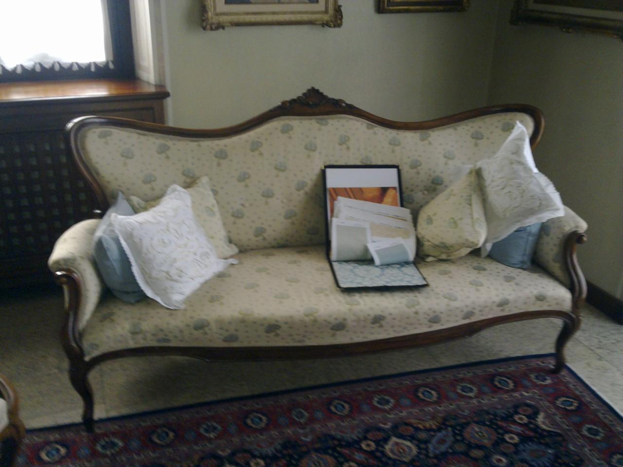 divano luigi XVI rifacimento a molle