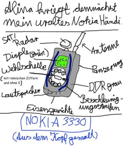 Alina bekommt mein Nokia 3330