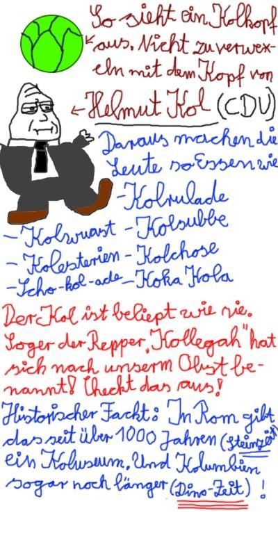 Helmut Kol Kolumbien und Koka Kola