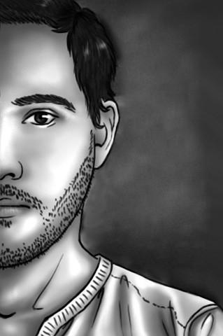 Dessins sur Ordinateur > Demi portrait d'Adrien