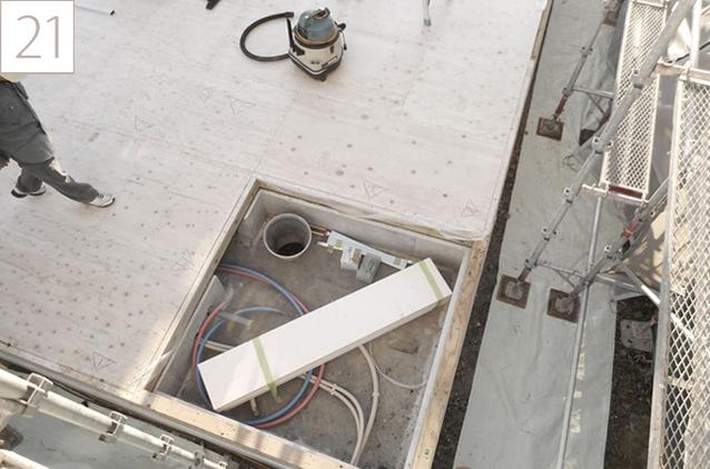 21.剛床構造でより強度の高い床に仕上げます。