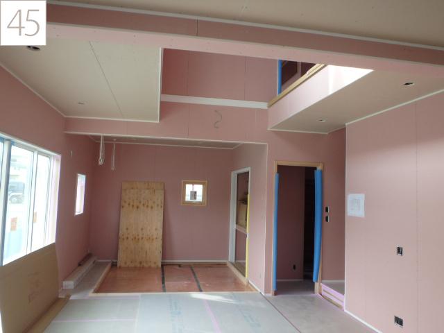 45.天井は、省令準耐火構造に応じた強化ボードを使用しています。