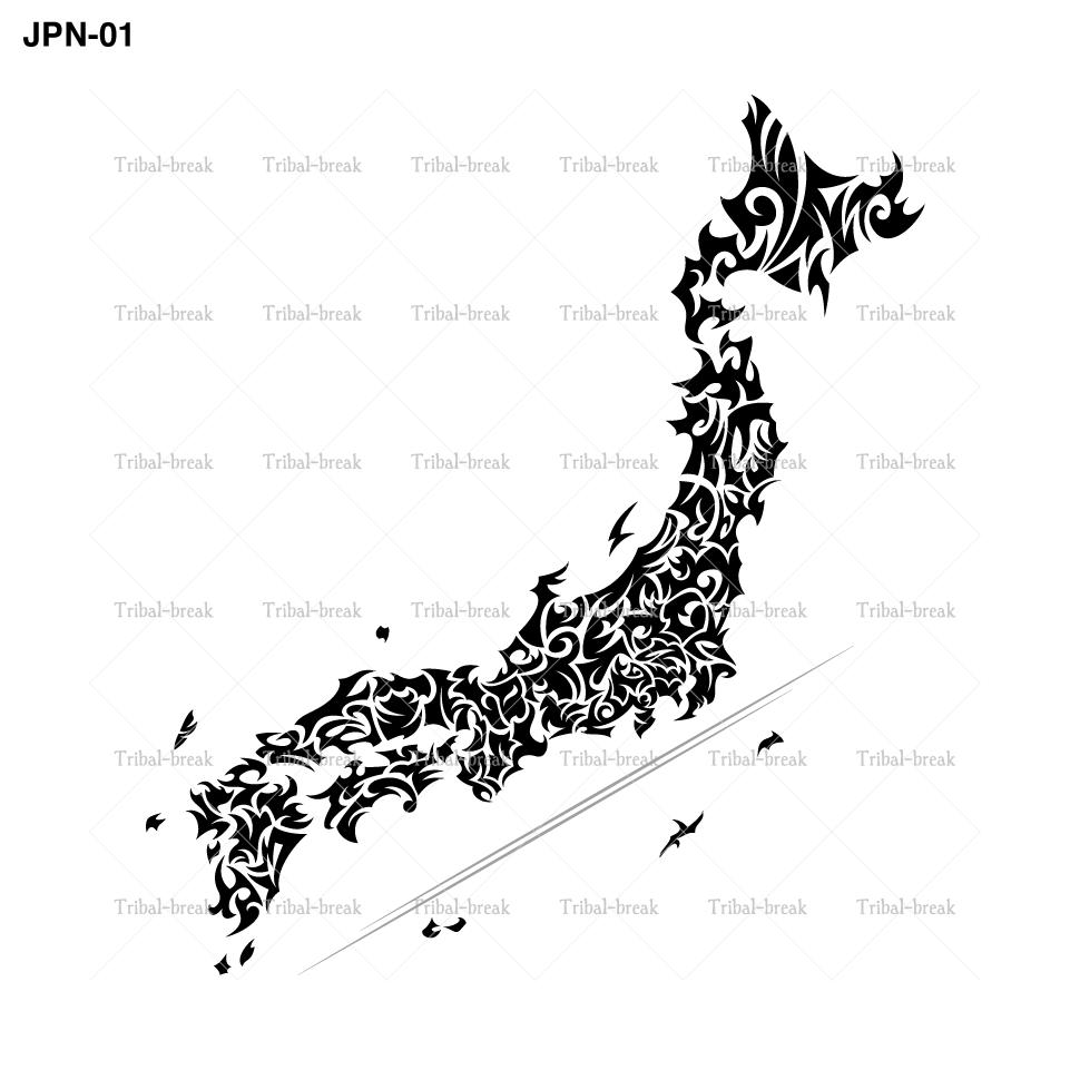 トライバル(日本地図)/Tribal JAPAN Map