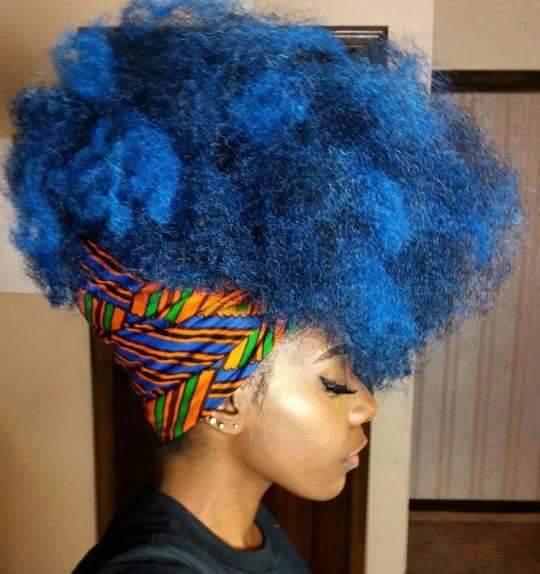 Coloration temporaire pour cheveux afro