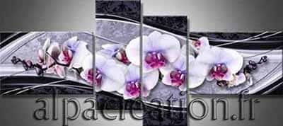 Orchidées sur marbre