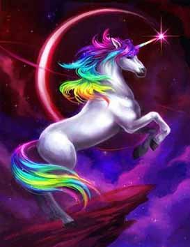 La licorne multicolore