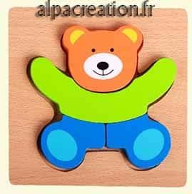 Puzzle bébé ours
