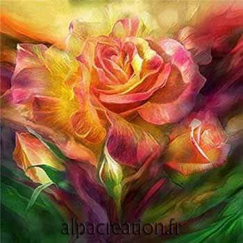 broderie de diamant bouquet de roses
