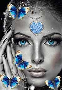 La femme aux papillons