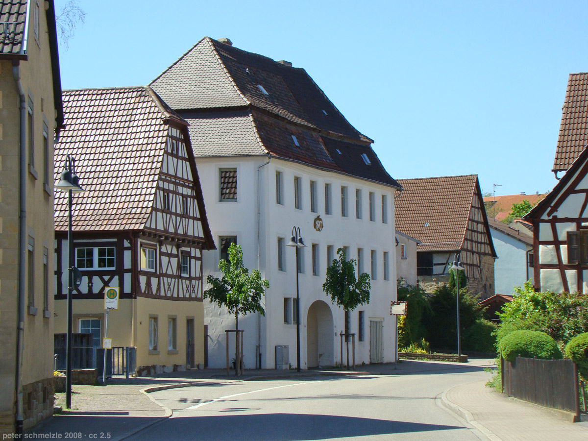 "Ortsmitte Weiler - Blick auf das sogenannte ""Herrschaftshaus""  