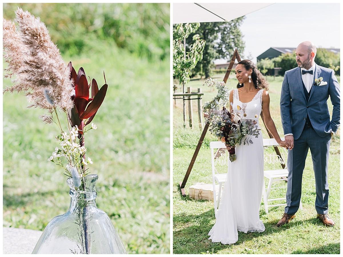 Dekoration boho Neimeshof Kempen boho Hochzeit freie Trauung Scheunenhochzeit Hochzeitsfotograf Niederrhein Jane Weber