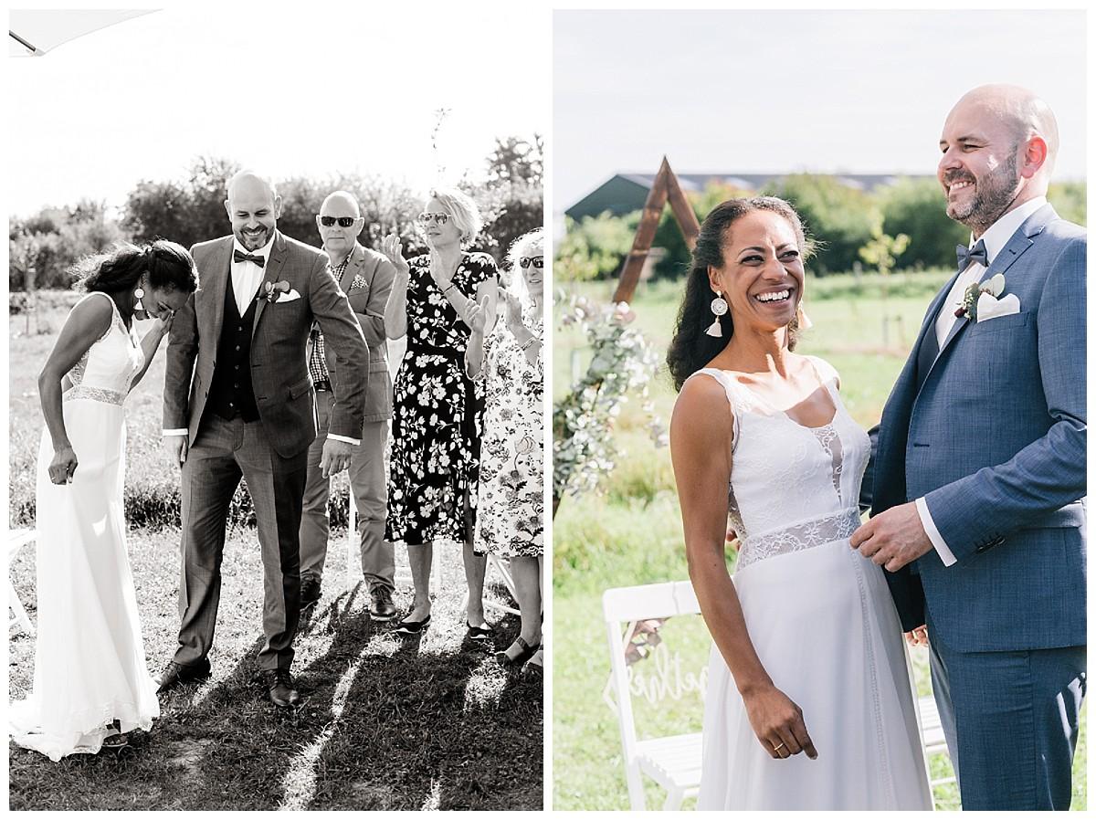 Brautpaar Neimeshof Kempen boho Hochzeit freie Trauung Scheunenhochzeit Hochzeitsfotograf Niederrhein Jane Weber