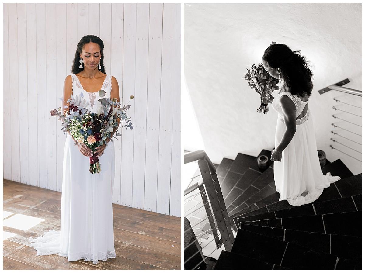 boho braut Eukalyptus Neimeshof Kempen boho Hochzeit freie Trauung Scheunenhochzeit Hochzeitsfotograf Niederrhein Jane Weber