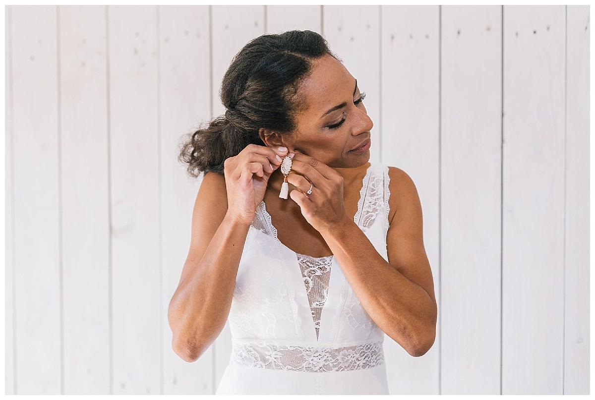 braut Ohrringe Neimeshof Kempen boho Hochzeit freie Trauung Scheunenhochzeit Hochzeitsfotograf Niederrhein Jane Weber