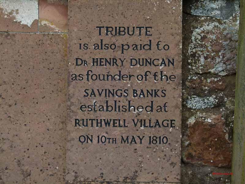 Dr. Henry Duncan erfand hier 1810 das Sparkassenwesen