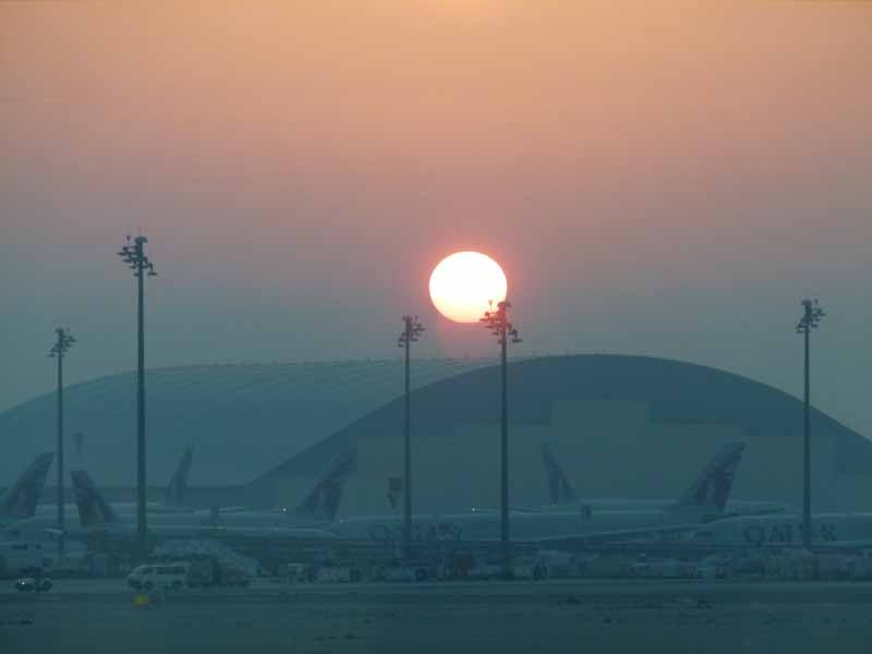 Sonnenaufgang in Doha, Quatar