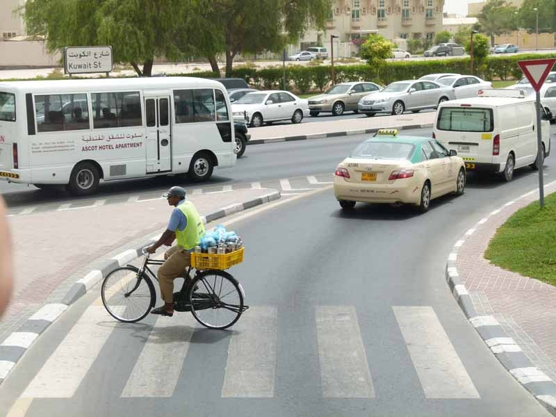 Es gibt tatsächlich auch Fahrräder in Dubai