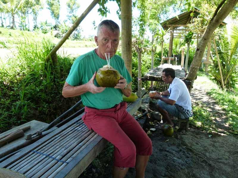 Selbst die Kokosnuss hinterher schmeckt gut