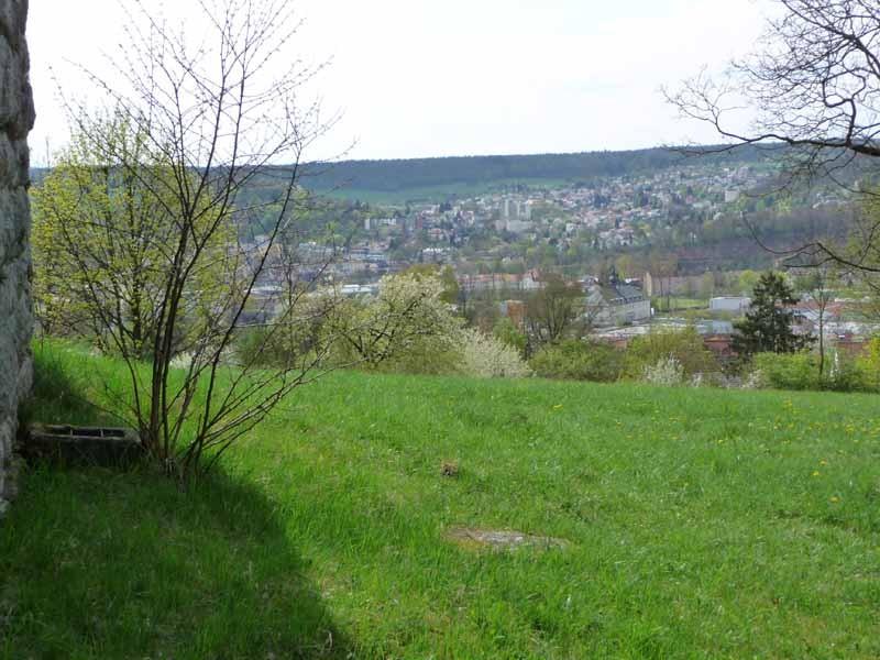 Blick hinunter nach Bad Kissingen