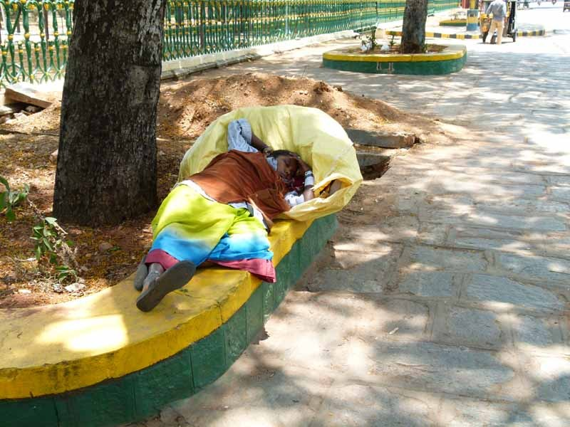 Einem Schläfchen ist man in ganz Indien nicht abgeneigt