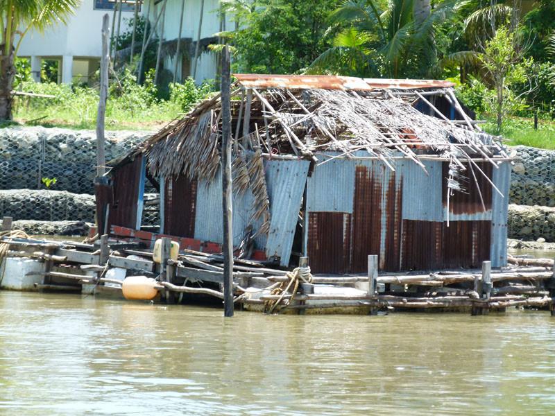 Das erste Haus auf der Insel