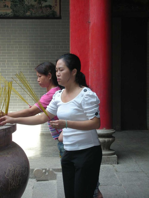 Beten im Tempel