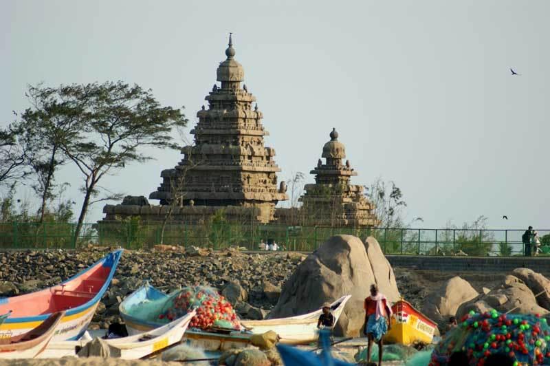 Von weitem schon zu sehen - der Seashore-Tempel