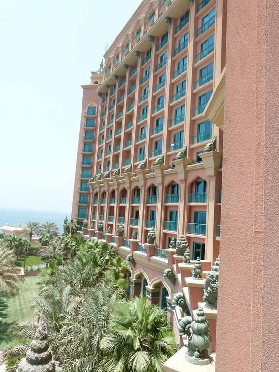 Blick vom Hotelbalkon nach rechts