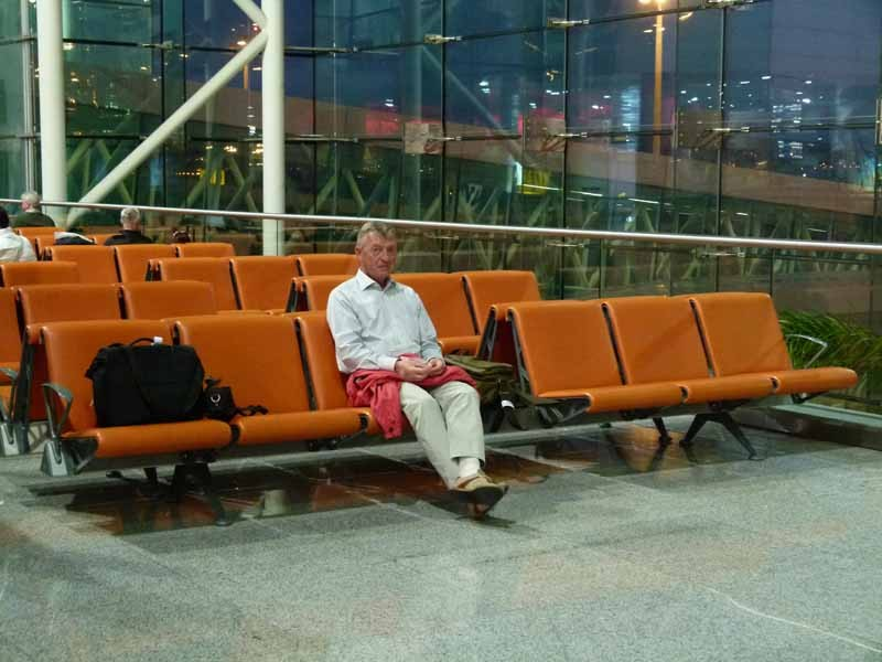 Warten auf den Weiterflug