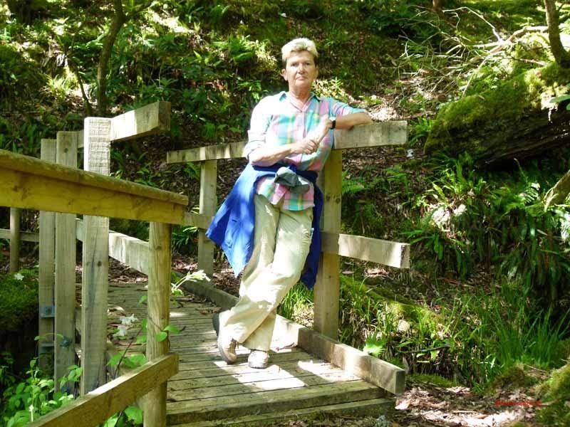 "Wir wandern den ""Waterfall Trail"" entlang"