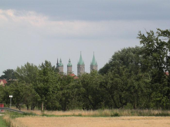 Blick von Rossdorf nach Naumburg