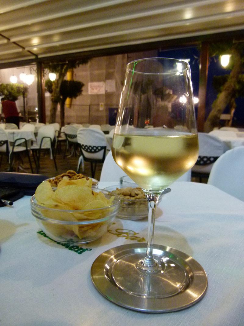 Wein beschließen den Abend