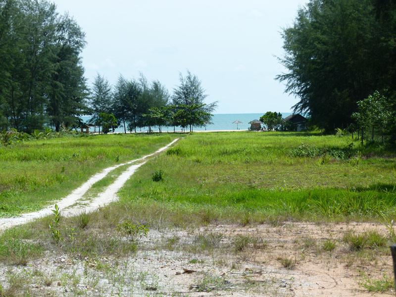 Zufahrt zum Strand