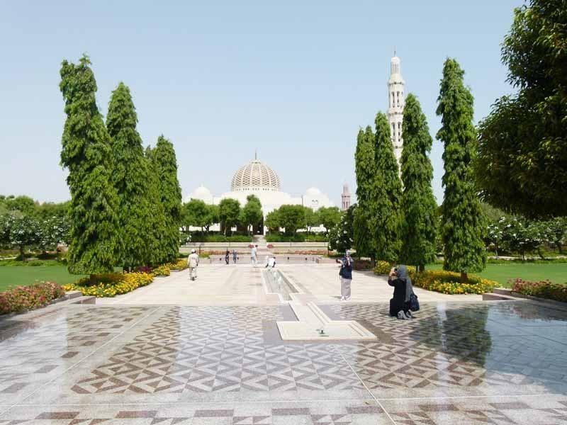 Das weitläufige Gelände der Moschee