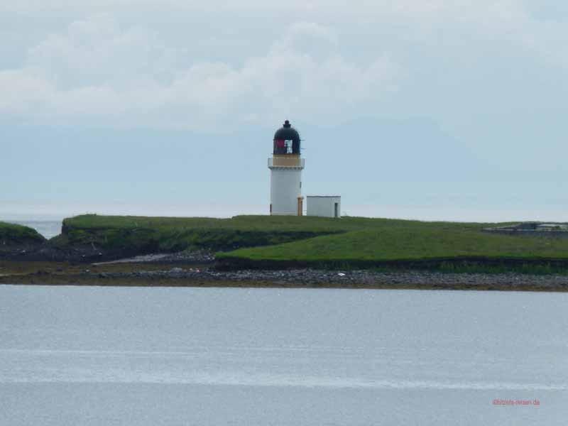 Am Ende der Bucht der Leuchtturm