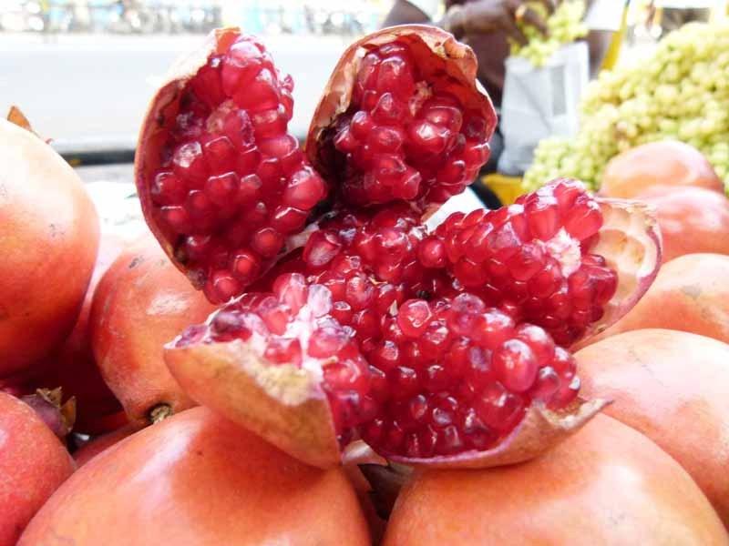 Das ist ein reifer Granatapfel - süss und lecker