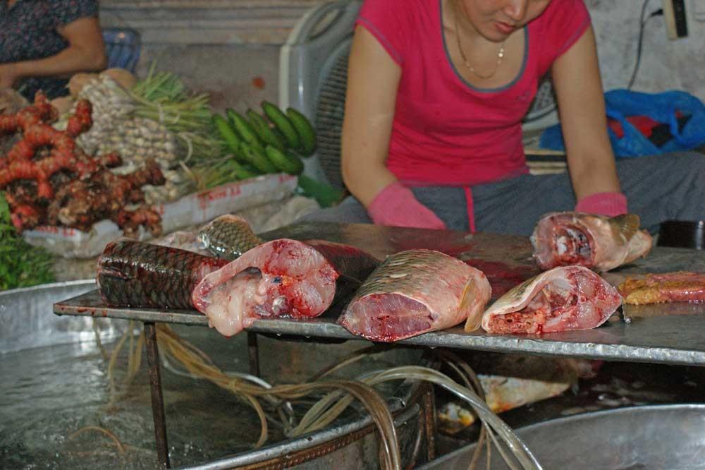 Metzger auf dem Markt