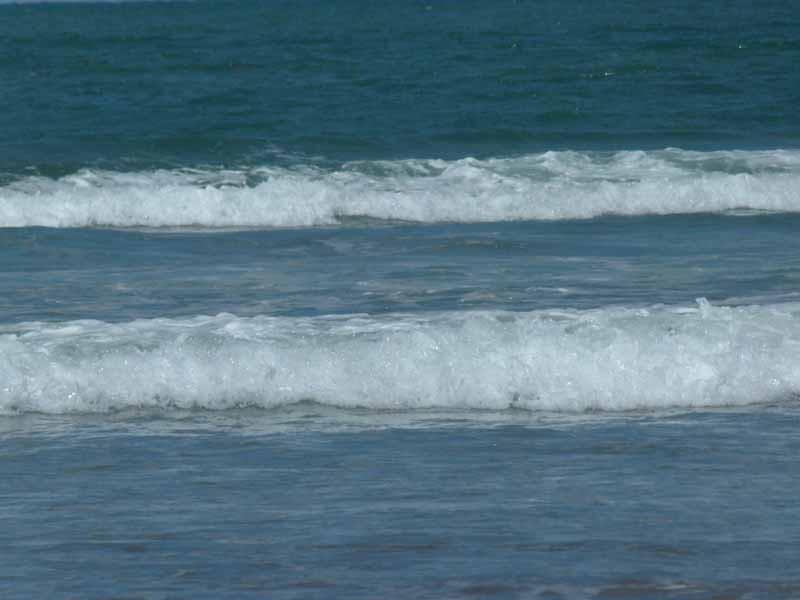 Und immer waren die Wellen zu hoch zum schwimmen
