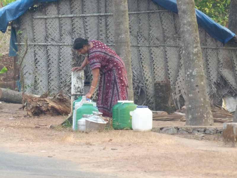 Mühsame Arbeit für indische Frauen