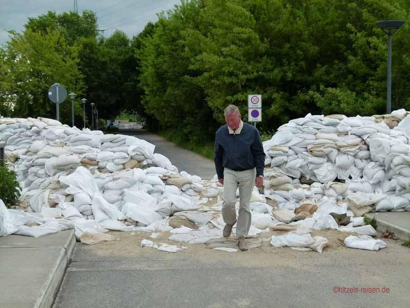 Auch hier noch Zeugnisse des Hochwassers