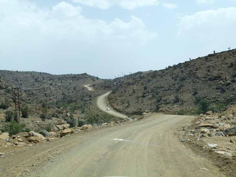 Die letzten km zum Jebel Shams