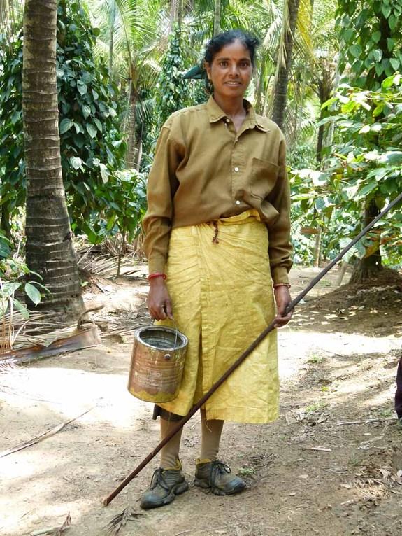 Die einzigste indische Frau, die ich mit Halbschuhen gesehen habe